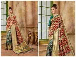 Festive Wear Latest Banarasi Silk Saree With Blouse Piece