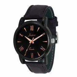 Jainx Slim Black Dial Analog Watch for Men & Boys JM207