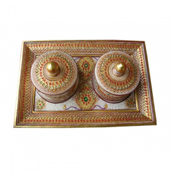 Marble Tray Two Dibi Set