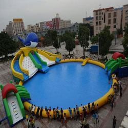 750 Sq Feet PVC And Rubber Inflatable Water & Snow Park, For Amusement Parks