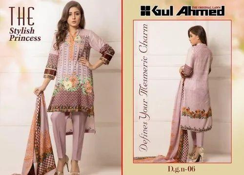 1a477da454 Party Wear Printed Gulahmed Vol 1 Original Lawn Cotton Pure Pakistani Suit