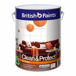 Emulsion Clean & Protect British Paints, Packaging Type: Bucket