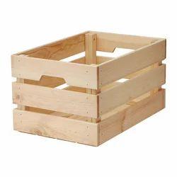 Soft Wood Rectangular Wooden Crate
