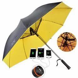 Solar Power Bank Umbrella with Fan