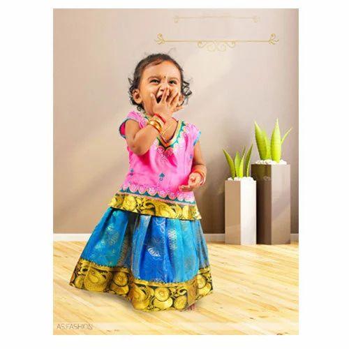 5b0dfcd850e7 AS Fashion Wedding And Festive Wear Pattu Pavadai, Rs 421 /set   ID ...