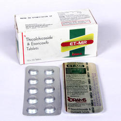 Drams Etoricoxib Thicolchicoside Tablets, Packaging Type: Blister