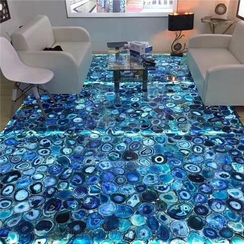Agate Stone Blue Floor Tile 0 5 1 Inch Rs 4200 Square