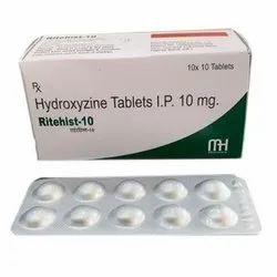 Ritehist Hydroxyzine Tablet, 10 X 10 Tablets, Non prescription