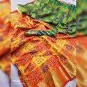 Designer Yellow & Green Patola Saree