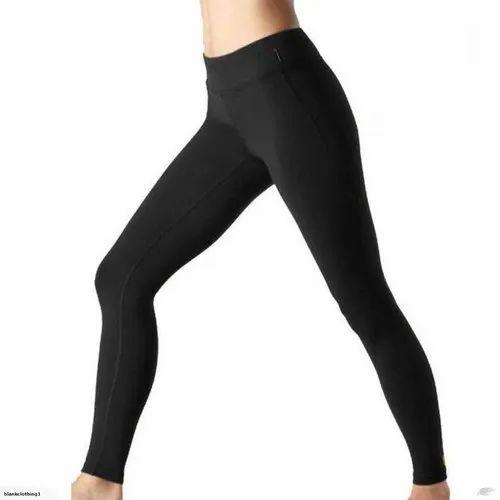Straight Fit Plain Ladies Black Cotton Legging