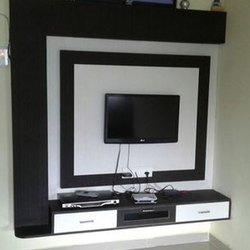 Black and White Wall Mounted PVC TV Cabinet, For Home