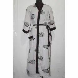 Silk Sari Long Kimono Women's Vintage  Maxi Gown Dress