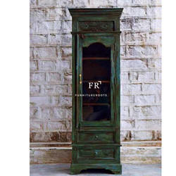 Resort Furniture - Designer Vintage Bookshelf in Distressed Finish - Hotel Furniture Bookcase