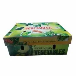 Rectangular Single Wall 3 Ply Vegetable Corrugated Packaging Box