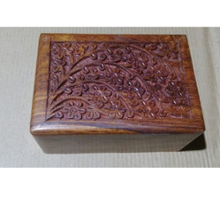 Junglewood Square Wooden Box