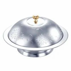 Stainless Steel Silver Flower Serving Dishes