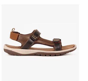 59c4b8ed532da Leather Woodland Velcro Strap Casual Sandals