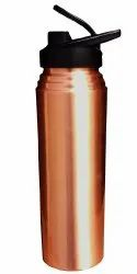Pure Copper Sipper Bottle For Sports Jointless And Leakproof, Yoga Sipper: 1000 Ml