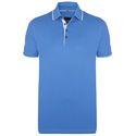 Cotton Plain Mens Blue Collar T Shirt, Packaging Type: Packet