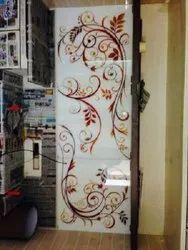 Designer Lacquered Glass Panel