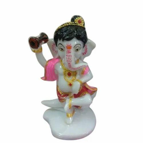 Glossy Finish Bal Ganesha Statue, Packaging Type: Box