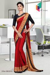 Uniform Saree