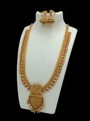 D8020 Brass Long Jewellery Set