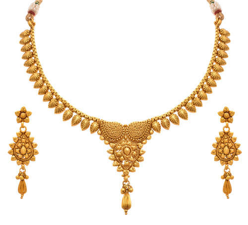 JFL-One Gram Gold Plated Necklace Set With Earrings  sc 1 st  IndiaMART & Jfl-one Gram Gold Plated Necklace Set With Earrings at Rs 959 /set ...