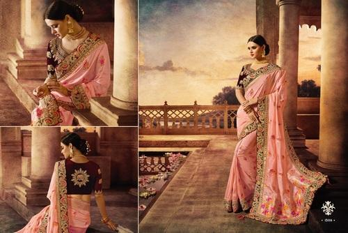 cd923133bd Pink Silk Heavy Bridal Designer Saree, Rs 7735 /piece, Krivi ...
