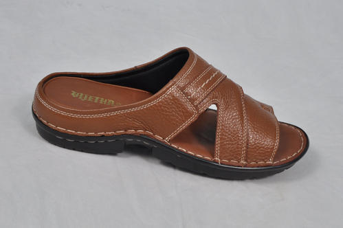 82ed7b0dc471 Tan Vijetha Genuine Leather Sandals