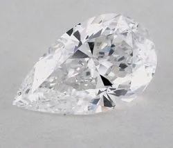 DEF VVS Colorless Pear Cut Moissanite Diamond