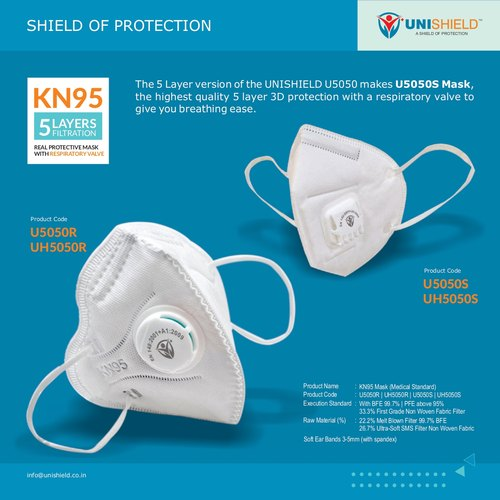 Disposable N95 Protective Mask, Number of Layers: 5 Layers, Rs 20 /piece   ID: 22399507188
