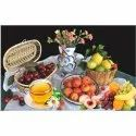 Digital Printing Gloss Rectangle Fruits Print Ceramic Tile For Home, Thickness: 10 - 12 Mm