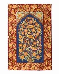 NAQASH Multicolor Hand Embroidered Tree Of Life Crewel Chainstitch Rugs