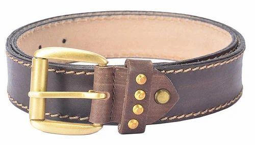 147748a00 Leather Belts - Hidelink Brown Genuine Leather Belt Wholesaler from Kolkata