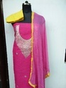 Chanderi Top Dress Material With Gotta
