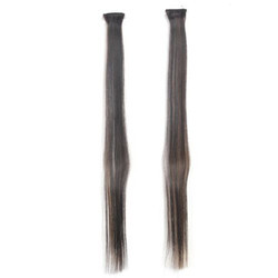 2 Pcs Straight 2 Clip Type Hair Extension