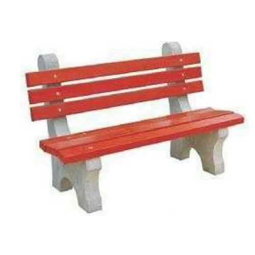 Red And White Cement Garden Bench Size