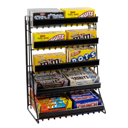 Open Storage Candies & Chocolates Table Top Display Stand, For Supermarket, Shops