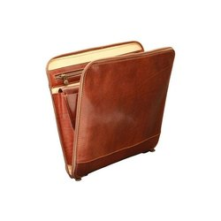 Brown Leather Conference File Folder, For Office