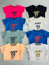 8 color 4 Way Lycra Girls T Shirts, Size: S to xxl, Age Group: 12 Above