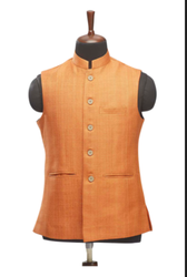 WC00032-318 Orange Cotton Waistcoat