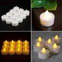 24 Pcs LED Light Tealight Candles Diya Flameless Smokeless Christmas Diwali Party Home-Diva