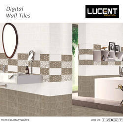 White Designer Glossy Wall Tile, Size/Dimension: 30 x 45 cm