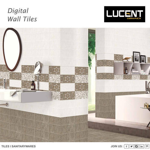Ceramic Designer Glossy Wall Tile, Thickness: 0-5 Mm