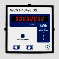 KWh Meter /Energy Meter Rishabh Make EM 3490SS, For Industrial