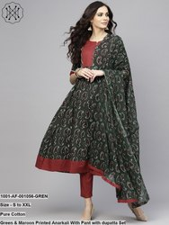 Anarkali with Pant & Dupatta Set