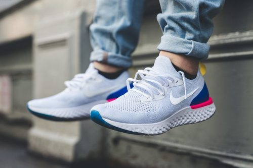 3f77a4f7de629 Men Nike Epic React Flyknit Blue Shoes