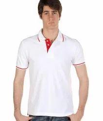 Cotton Plain Mens Collar T Shirt