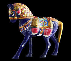Hand-Carved Horse Statue